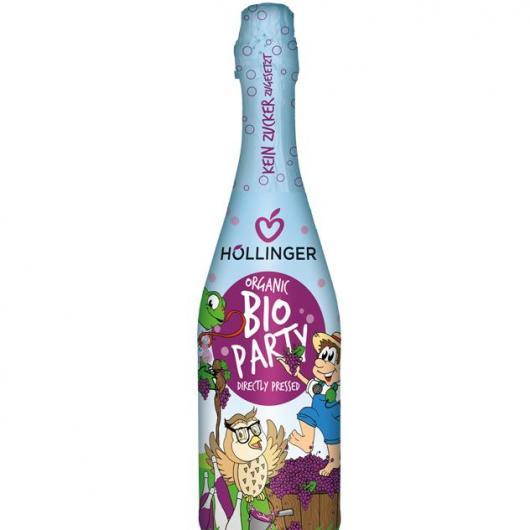 Bebida para fiesta con gas sin alcohol 0,75 l bio Hollinger