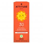 Crema Solar mineral Vainilla FPS 30 Attitude 75 g
