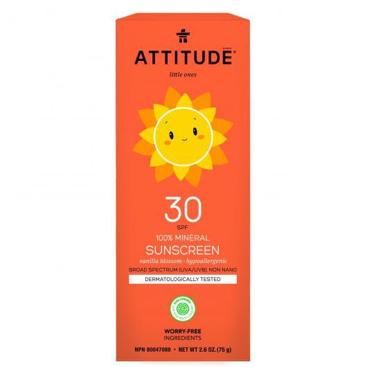 Crema Solare mineral Vaniglia FPS 30 Attitude 75 g