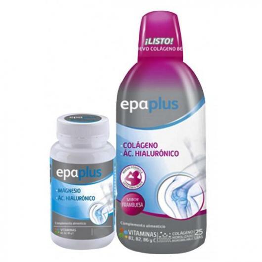 Pack Colágeno y ác hialurónico líquido 1 litro + Magnesio y ác hialurónico 28 comprimidos Epaplus