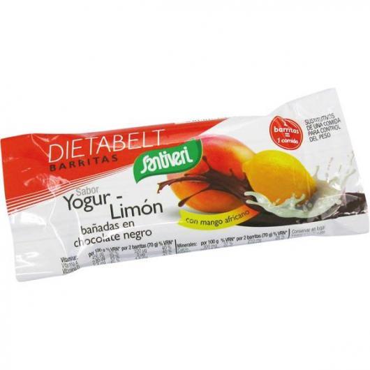 Barrette yogurt-limón con cioccolato fondente, Santiveri