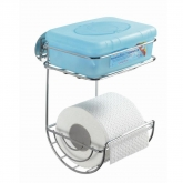 Turbo-Loc Toilettenpapierhalter m Ablage
