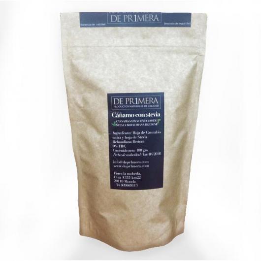 Feuilles séchées de chanvre et stévia rebaudiana, 100 g