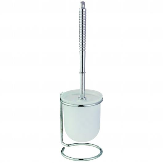 Brosse WC Piego Chrome Blanc