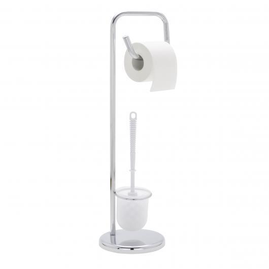 Ensemble pour WC avec Pied Solide, Chrome