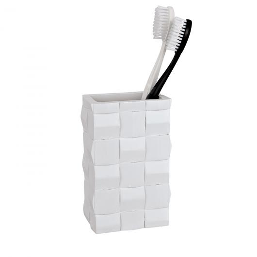 Vaso higiene dental Relieve, blanco