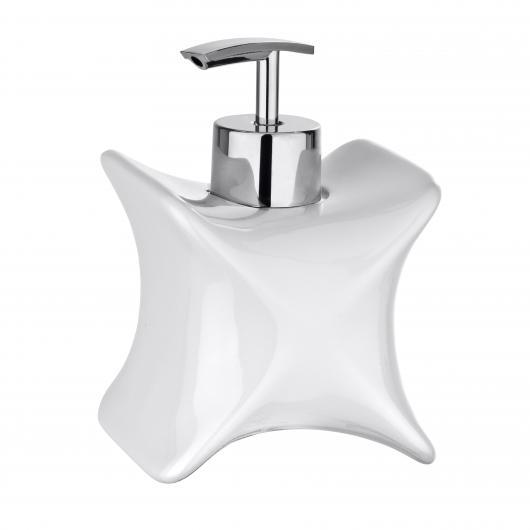 Dosatore di sapone Forma X, bianco