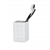 Vaso higiene dental Cube gris