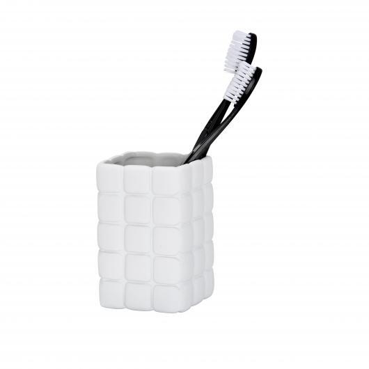 Contenitore per spazzolino da denti Cube grigio