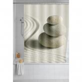 Tendina bagno 180x200, Polyester, Sand & Stone