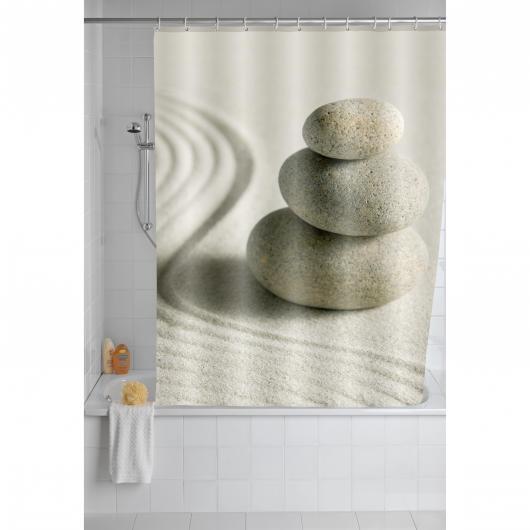 Cortina baño 180x200, Polyester, Sand & Stone