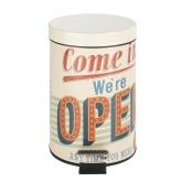 Cubo con pedale Vintage Open, 3 ltr.