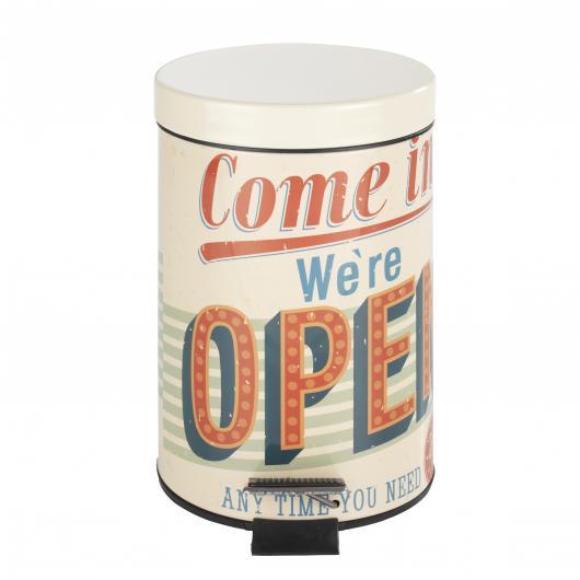Corbeille avec Pédale Vintage Open, 3L