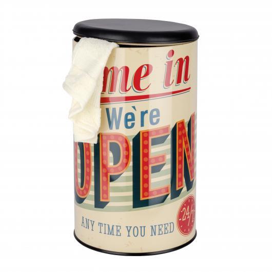 Sgabello e mettitutto Vintage Open, 54l