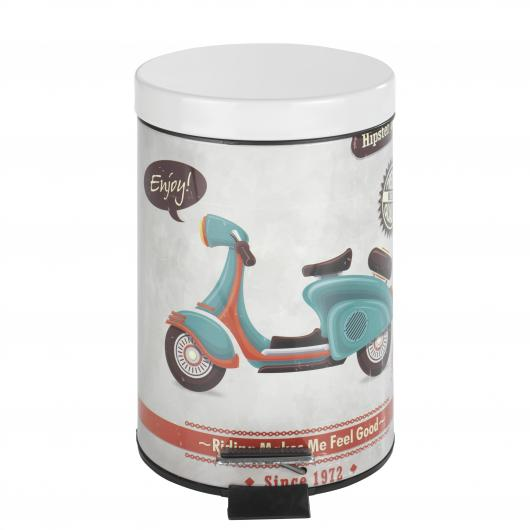 Cubo con pedal Vintage Scooter, 3 ltr.