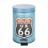 Cubo con pedale Vintage Route 66, 3 ltr.