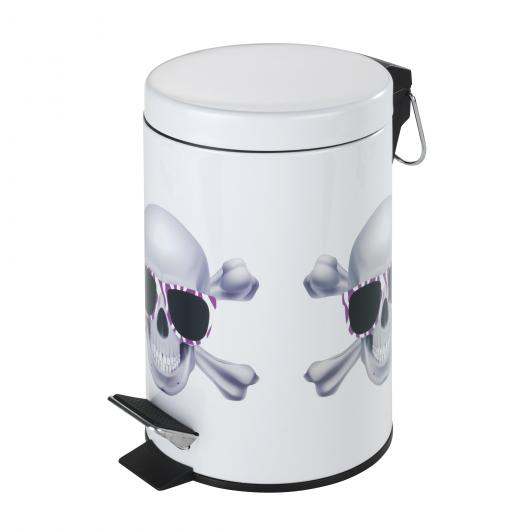 Cubo a pedale Skull, 3 ltr.