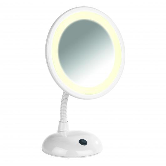 Specchio per cosmetici con Luce, Style bianco