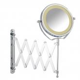 Specchio per cosmetici telescopico con luce Brolo