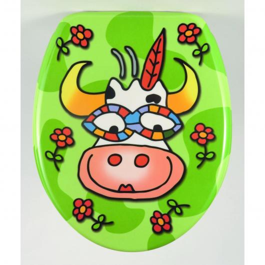 Tapa de inodoro Crazy Cow