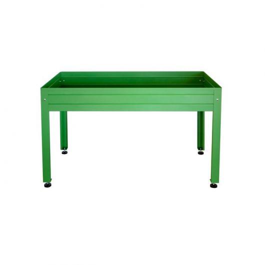Tavolo da coltivazione laccato verde