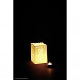 Lanternes Décoratives Coeurs Petites, 10 pièces