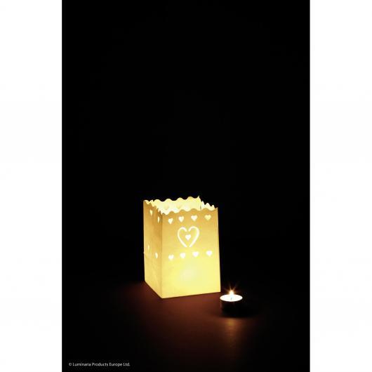 Illuminazione decorativa Cuori 10p.