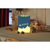Lanterne Décorative Paysage Hivernal Petite, 8 pièces