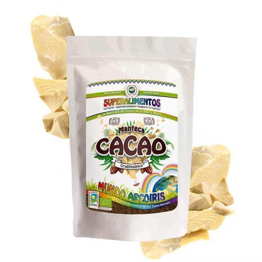 Manteca de cacao ecológico Mundo ArcoIris 250 gr