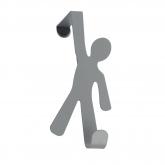 Gancho para puertas Boy 4cm Gris