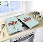 Tavole di vetro per cucine Home Sweet Home 2p
