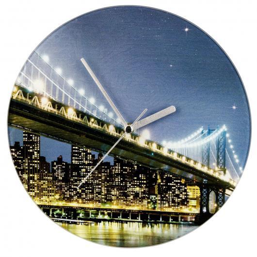 Reloj del pared Ø 27 cm Brooklyn Bridge