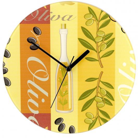 Reloj del pared Ø 27 cm Oliva