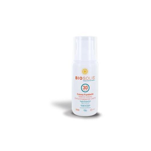 Crema solar fusión cara y cuerpo SPF30 BioSolis, 100 ml