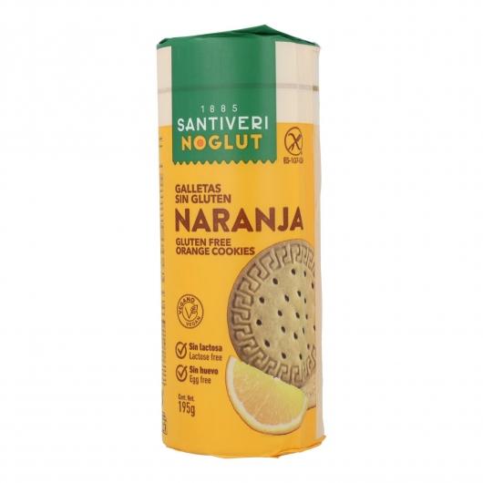 Galletas digestive naranja sin gluten Santiveri, 195 g