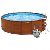 Set completo piscina Sequoia 478 x 124cm Intex