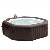 Spa burbujas octogonal jets 200 x 71 cm marrón Intex