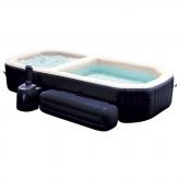 Spa borbulhas e piscina com bancos Intex
