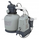 Combo depuradora arena y cloración salina 32,200 L Intex