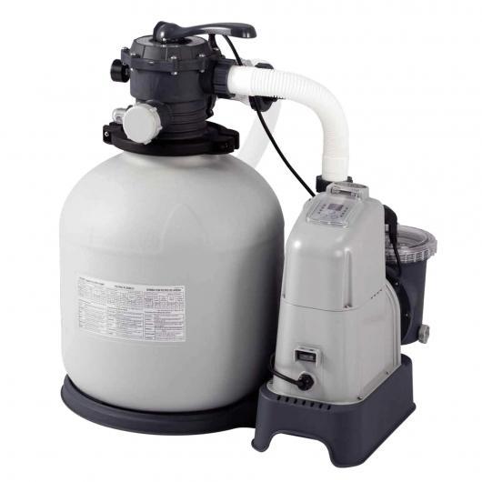 Combo depuradora arena y cloración salina 56,800 L Intex