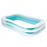 Piscina blanca y verde 262 x 175 x 56 cm Intex