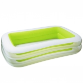 Piscina branca e verde 262 x 175 x 56 cm Intex