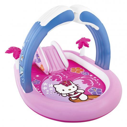 Centro de juegos Hello Kitty con tobogán 211 x 163 x 130 cm Intex