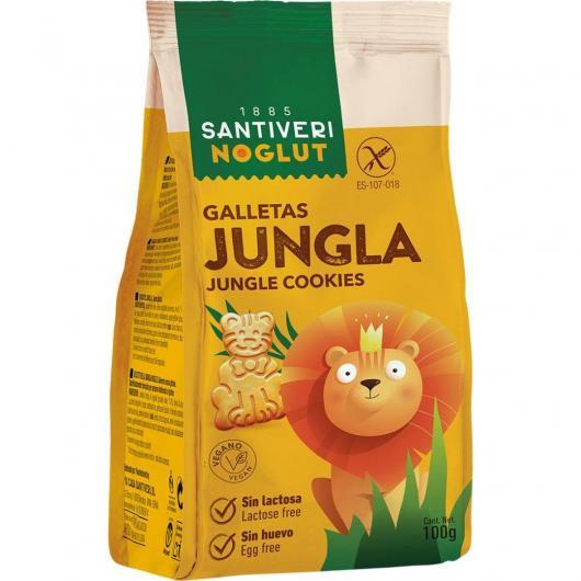 Biscotti giungle senza glutine Noglut Santiveri, 100 g