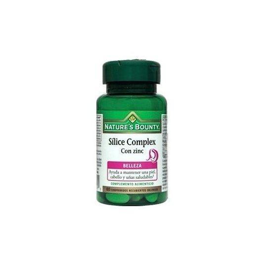 Sílice complex con Zinc Nature's Bounty, 60 comprimidos