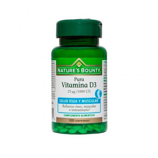 Vitamina D3 pura 25 mcg 1000 UI Nature's Bounty, 100 compresse