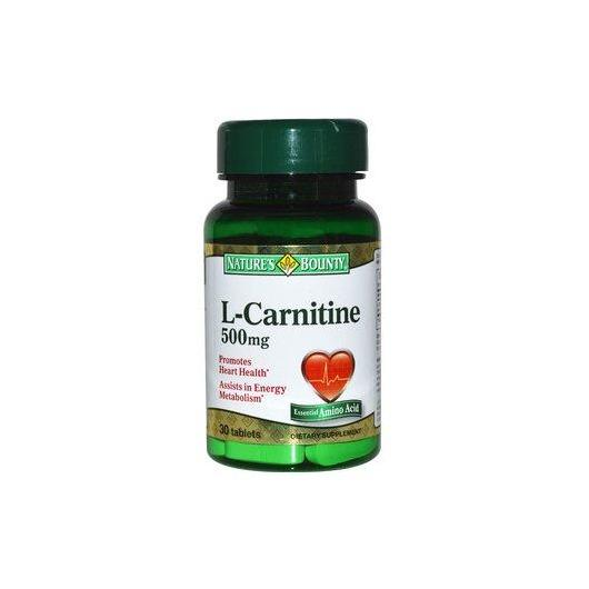 L-Carnitina 500 mg Nature's Bounty, 30 tabletas