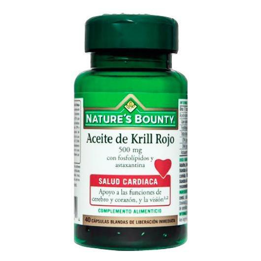 Olio di Krill rosso 500 mg Nature's Bonuty, 40 capsule molli