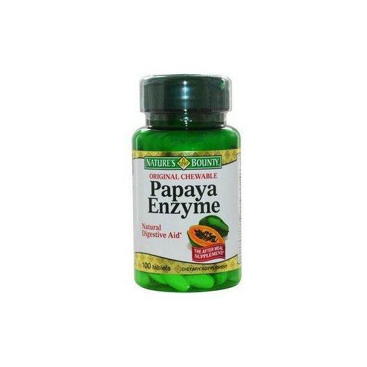 Enzimi di Papaya Nature's Bounty, 100 compresse