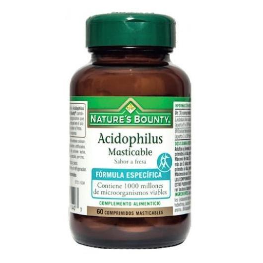 Acidophilus masticabile sapore di fragola Nature's Bounty, 60 compresse